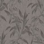 Passenger Wallpaper TP21233 Leaves Grey/Black By DecoPrint For Galerie